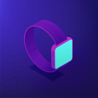 Isometrische smartwatch. 3d-illustration.