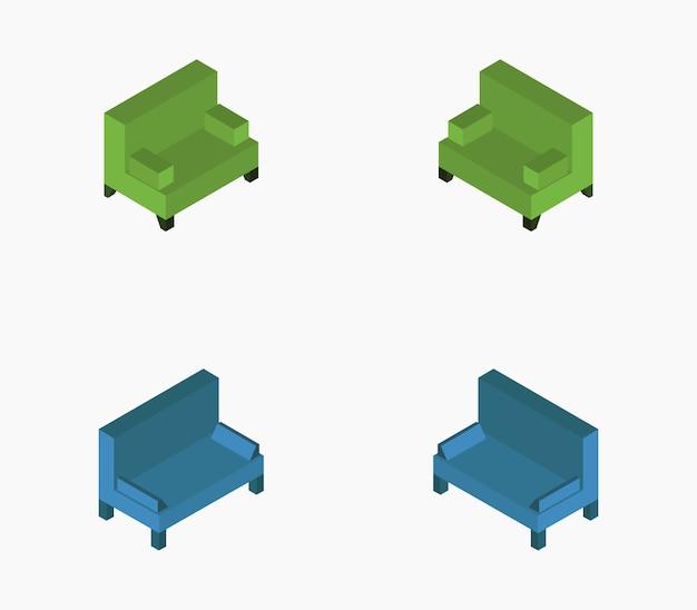 Isometrische sofa