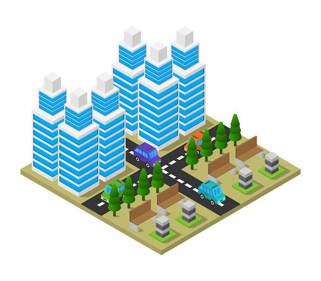 Isometrische stadt
