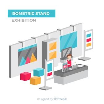 Isometrische standausstellung