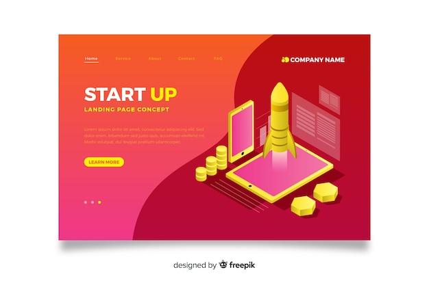 Isometrische start-landing-page