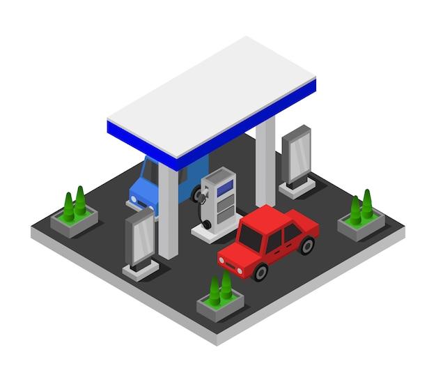 Isometrische tankstelle