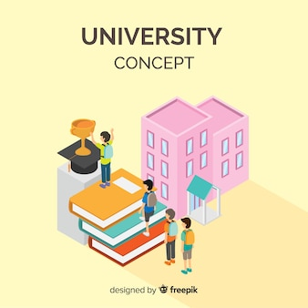 Isometrische universitätskonzept