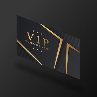 Isometrische vip-karte mit goldenen details