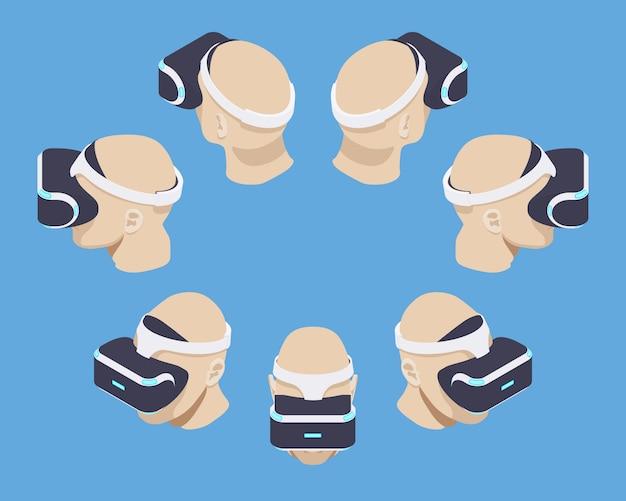 Isometrische virtual-reality-kopfhörer