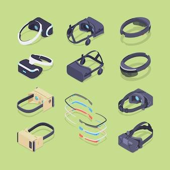 Isometrische virtuelle und augmented-reality-kopfhörer