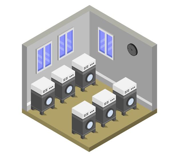 Isometrische waschküche