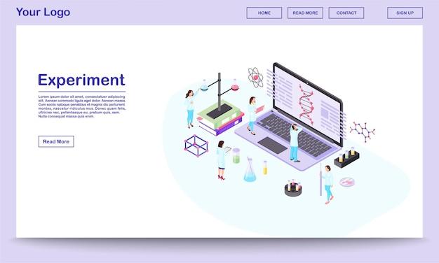 Isometrische website-vorlage für gentechnik