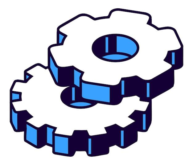 Isometrische zahnräder