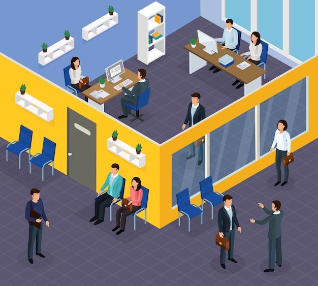 Isometrische zusammensetzung der einstellung von arbeitskräften