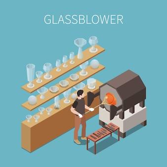 Isometrische zusammensetzung der glasherstellung