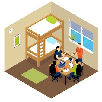 Isometrische zusammensetzung des bildungsstudenten