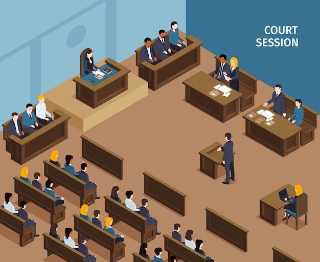 Isometrische zusammensetzung des justizgesetzes