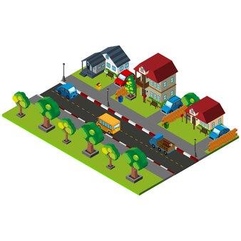 Isometrischen nachbarschaft design