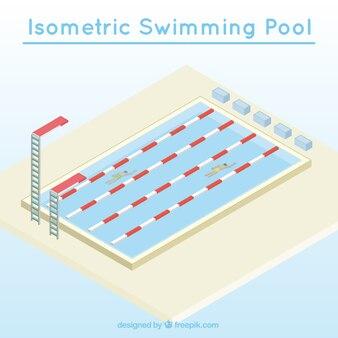 Isometrischen schwimmbad wettbewerb