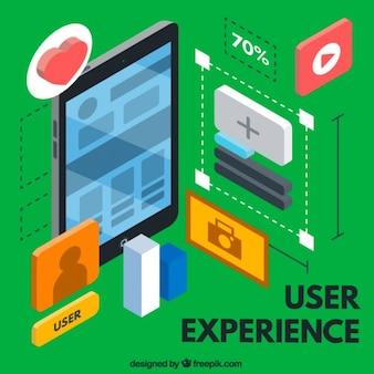 Isometrischen user experience elemente
