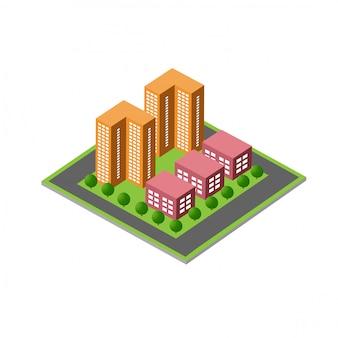 Isometrischer 3d-modulblock