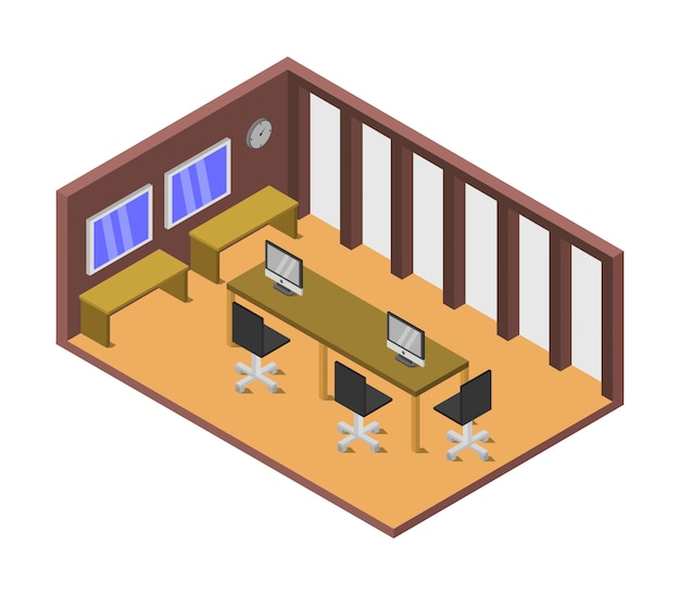 Isometrischer besprechungsraum