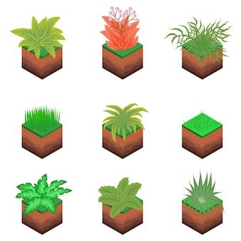 Isometrischer betriebsbaum bush