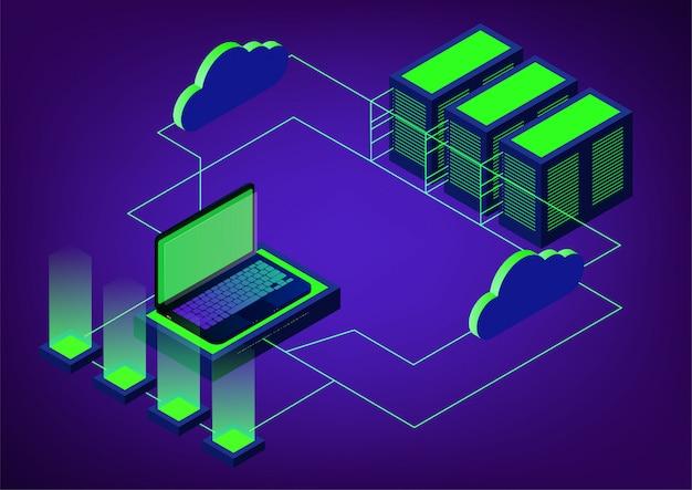Isometrischer cloud-speicher