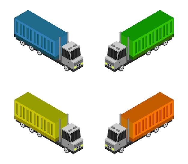 Isometrischer containerwagen