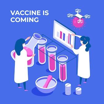 Isometrischer coronavirus-impfstoff