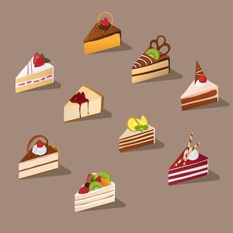 Isometrischer geschnittener kuchen
