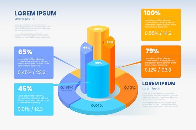 Isometrischer infografik-stil
