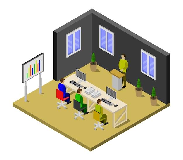 Isometrischer konferenzraum