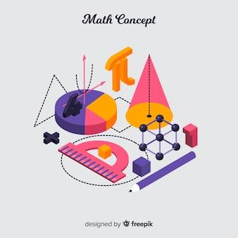 Isometrischer mathekonzepthintergrund