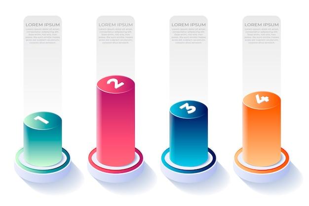 Isometrischer stil für infografik