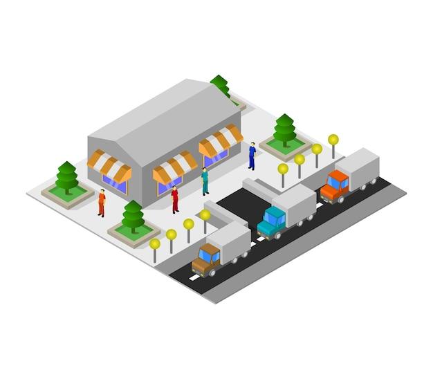 Isometrischer supermarkt