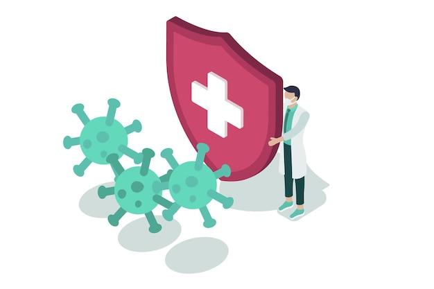 Isometrischer virenschutz