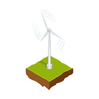 Isometrischer windgenerator