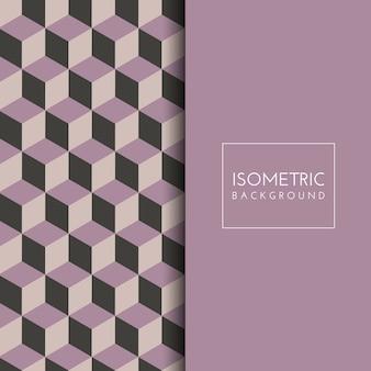 Isometrischer Würfelmusterhintergrund