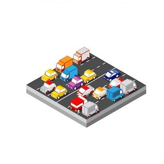 Isometrisches automobil 3d