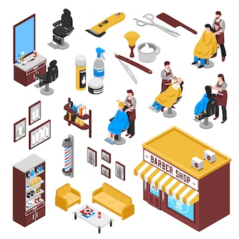 Isometrisches barbershop-set