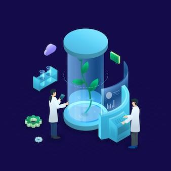Isometrisches biotechnologiekonzept