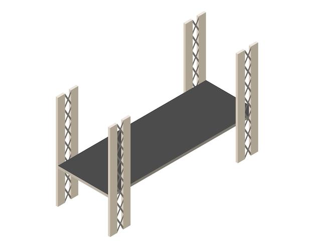 Isometrisches brückensymbol.