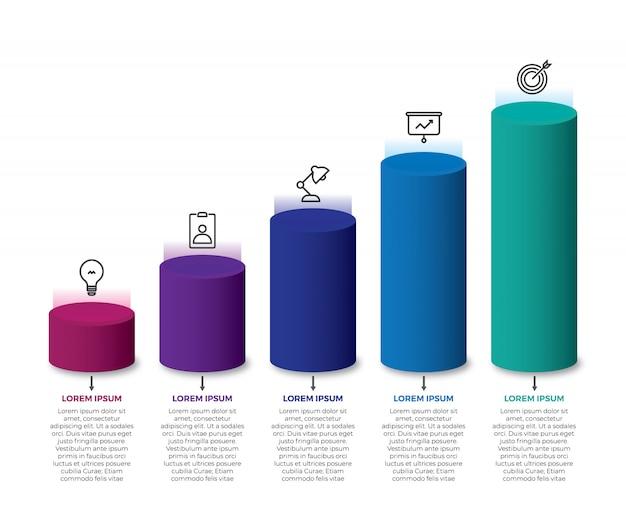 Isometrisches buntes infographic 3d