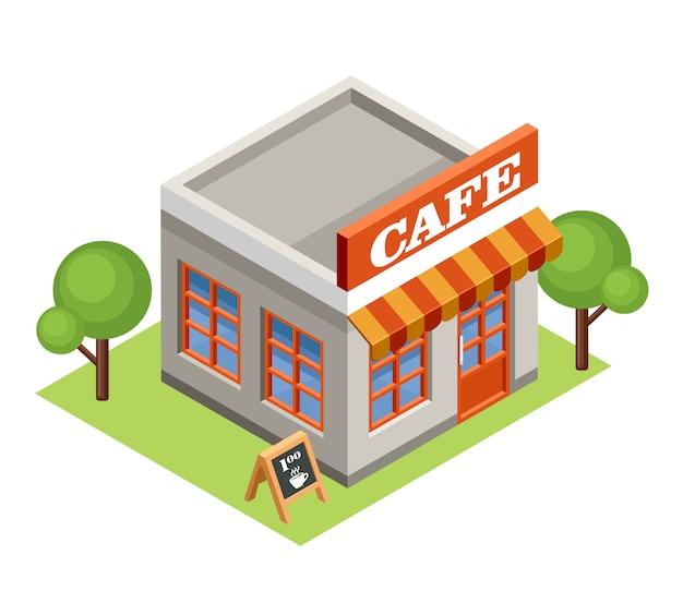 Isometrisches café.