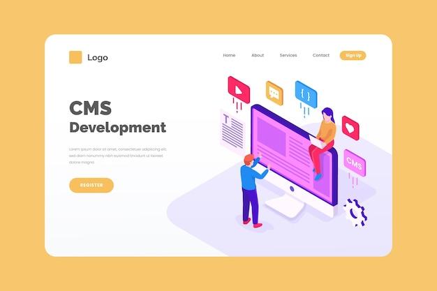 Isometrisches cms-entwicklungskonzept