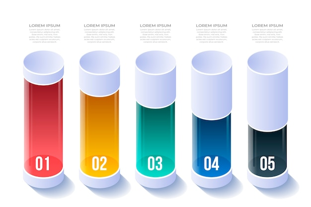 Isometrisches design für infografik