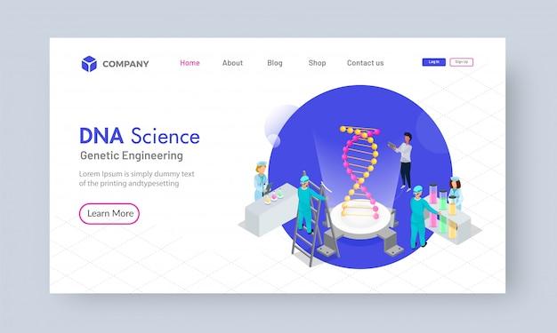 Isometrisches dna-wissenschaftsanalysekonzept