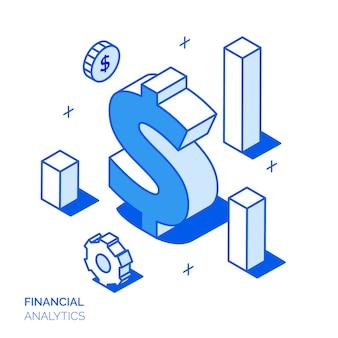 Isometrisches finanzkonzept