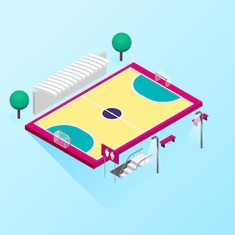 Isometrisches futsalfeld