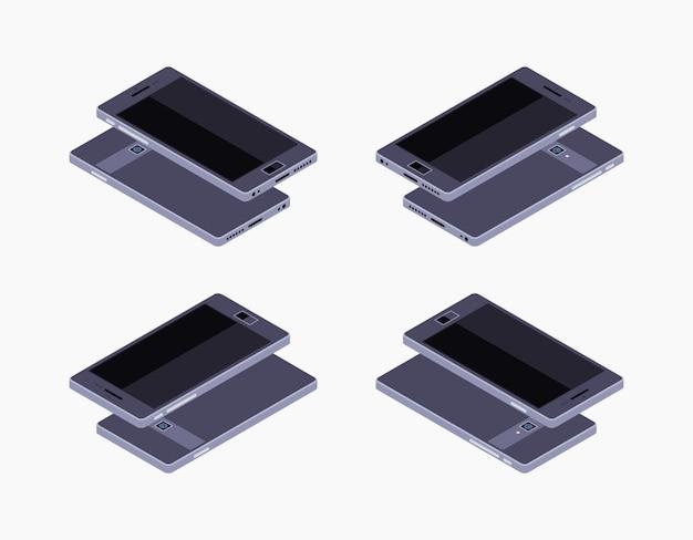 Isometrisches generisches schwarzes smartphone