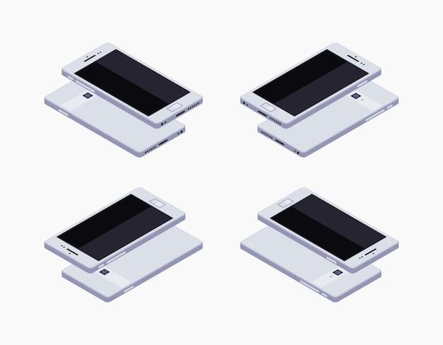 Isometrisches generisches weißes smartphone