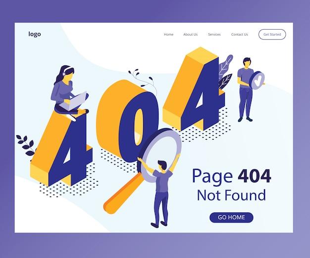Isometrisches gestaltungskonzept von 404