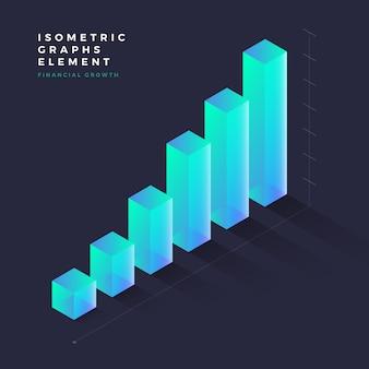 Isometrisches grafisches element